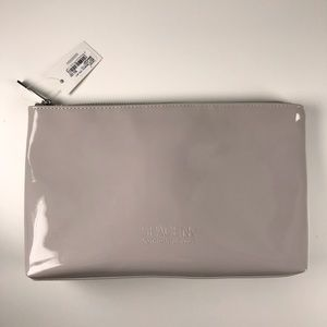 Handbags - Space NK Patent gray makeup bag